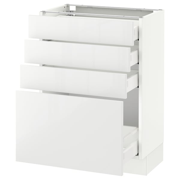 "SEKTION base cabinet with 4 drawers white Maximera/Ringhult white 24 "" 15 "" 15 3/8 "" 30 """