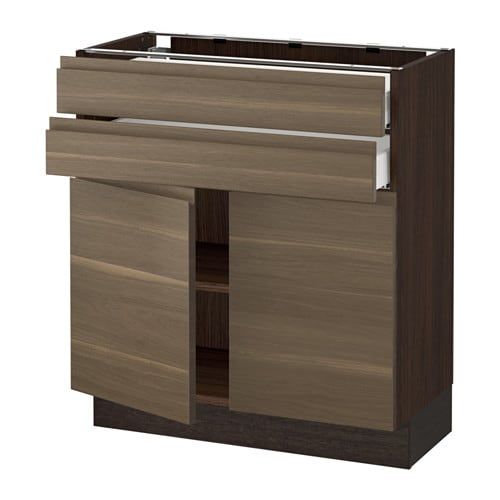 Sektion Base Cabinet With 2 Doors2 Drawers Wood Effect Brown Ma