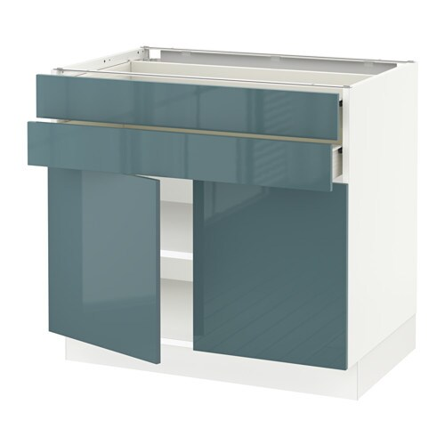 Sektion Base Cabinet With 2 Doors2 Drawers White F Kallarp