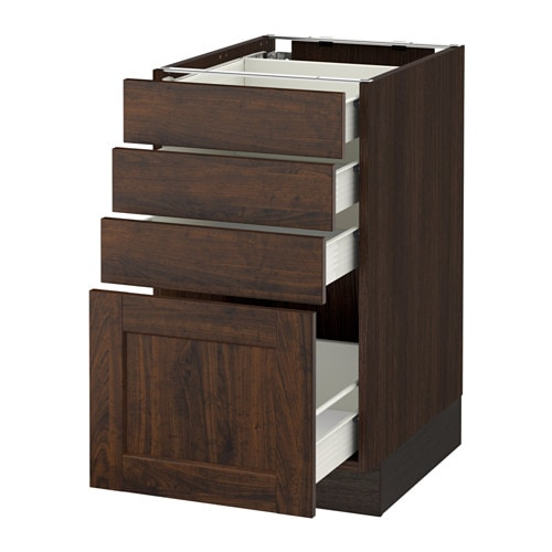 4 drawer kitchen cabinets sektion base cabinet with 4 drawers wood effect brown 10235