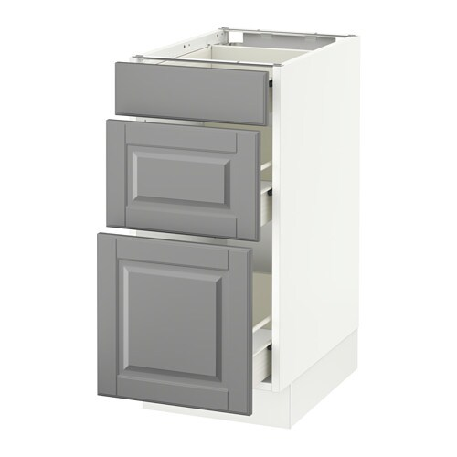 SEKTION Base cabinet with 3 drawers - white, Fö, Bodbyn ...