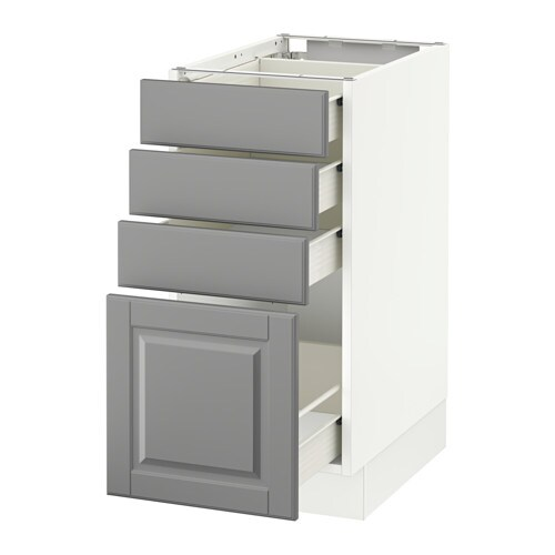 Sektion Base Cabinet With 4 Drawers White F Bodbyn