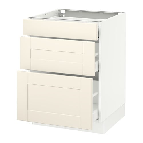 Us Cabinet: SEKTION Base Cabinet With 3 Drawers