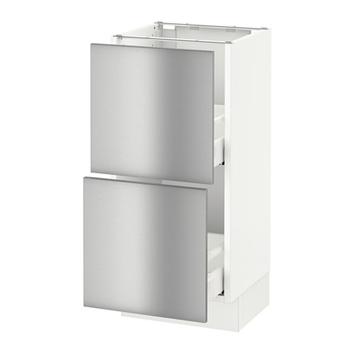 ikea metal kitchen cabinets sektion base cabinet with 2 drawers grevsta stainless 17711