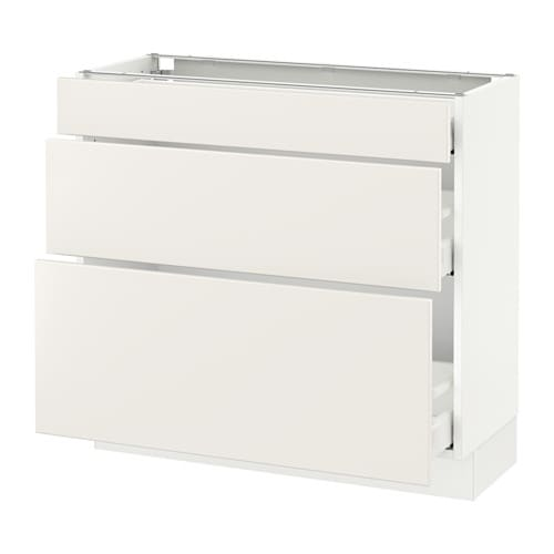 Ordinaire SEKTION Base Cabinet With 3 Drawers IKEA