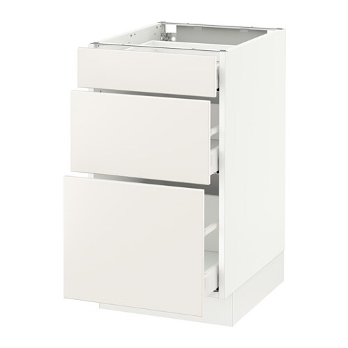 ikea kitchen cabinet drawers sektion base cabinet with 3 drawers ma veddinge white 17627