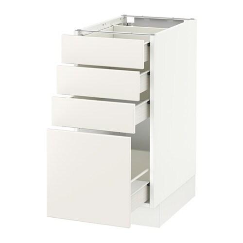 SEKTION Base cabinet with 4 drawers - Fö, Veddinge white ...
