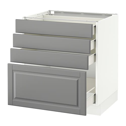 SEKTION Base cabinet with 4 drawers - Fö, Bodbyn gray ...
