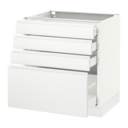 Outstanding Sektion Base Cabinet With 4 Drawers White Maximera Voxtorp Matt White White Download Free Architecture Designs Embacsunscenecom