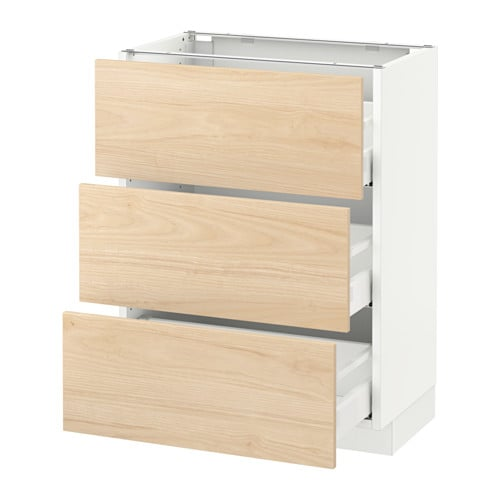 Merveilleux SEKTION Base Cabinet With 3 Drawers