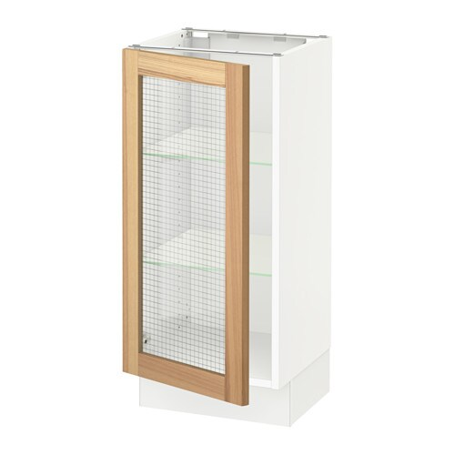 Sektion Base Cabinet With Glass Door Torhamn Natural Ash