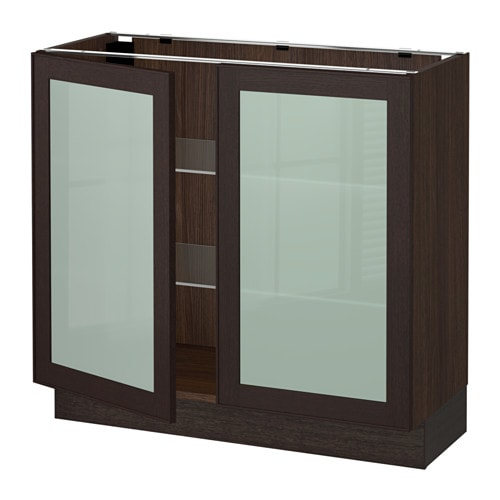 SEKTION Base Cabinet With 2 Glass Doors