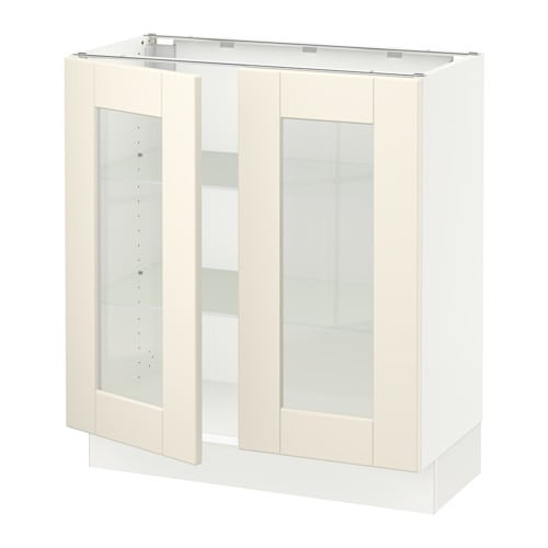 Charmant SEKTION Base Cabinet With 2 Glass Doors