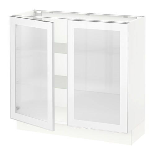 Kitchen Cabinet Door Fronts: SEKTION Base Cabinet With 2 Glass Doors