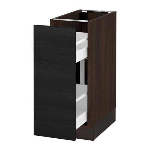 Charming SEKTION Base Cabinet With Pull Out Storage   White, Ma, Grimslöv Off White,  15x24x30  Part 6