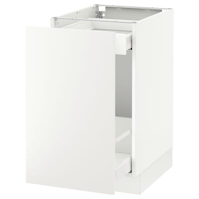 SEKTION Base cabinet with pull-out storage, white Maximera/Häggeby white, 18x24x30 ""