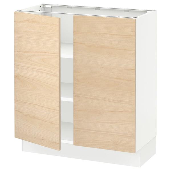 "SEKTION Base cabinet with shelves/2 doors, white/Askersund light ash effect, 30x15x30 """