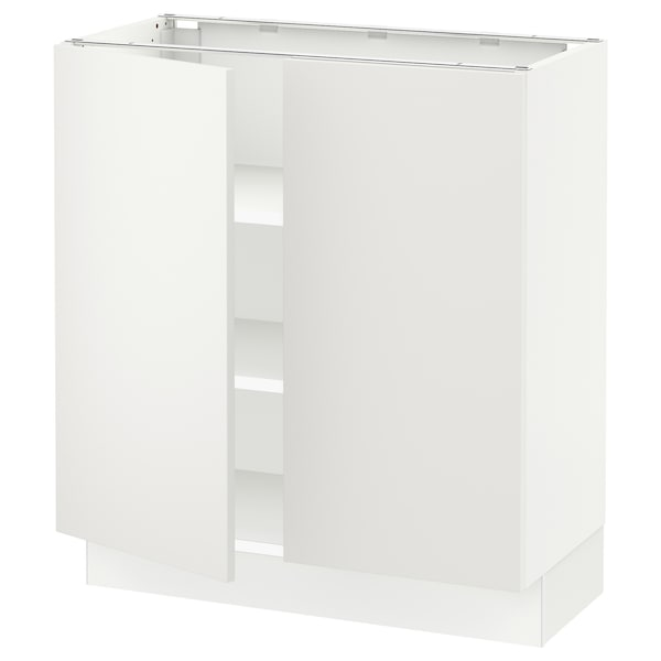 """SEKTION Base cabinet with shelves/2 doors, white/Häggeby white, 30x15x30 """""""