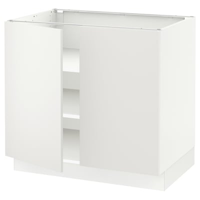 SEKTION Base cabinet with shelves/2 doors, white/Häggeby white, 36x24x30 ""