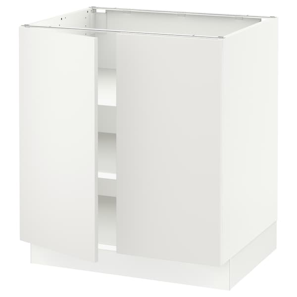 SEKTION Base cabinet with shelves/2 doors, white/Häggeby white, 30x24x30 ""