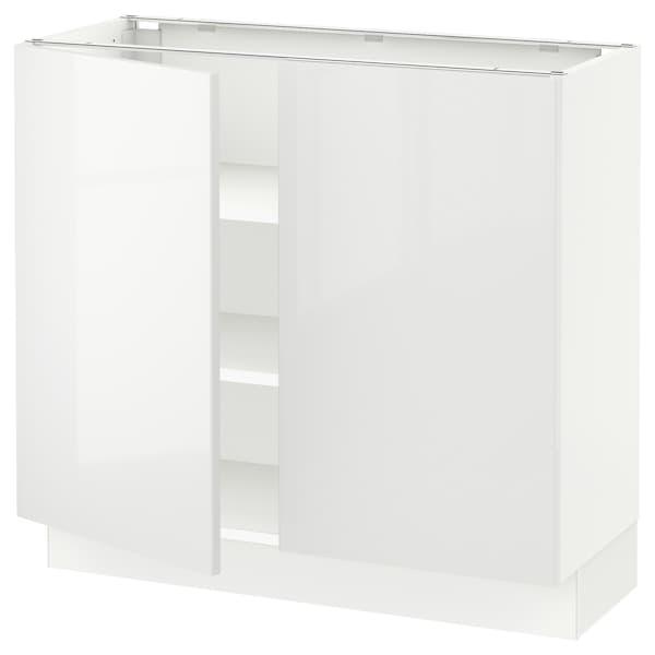 "SEKTION Base cabinet with shelves/2 doors, white/Ringhult white, 36x15x30 """