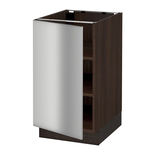 sektion base cabinet with shelves wood effect brown. Black Bedroom Furniture Sets. Home Design Ideas