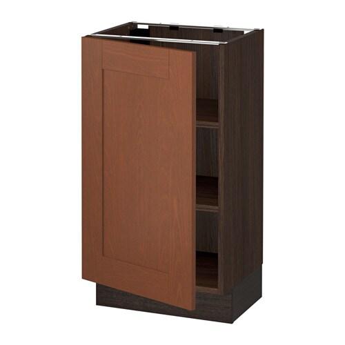 Medium Brown Kitchen Cabinets: SEKTION Base Cabinet With Shelves