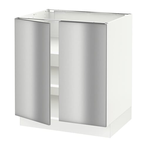 Stainless Steel Kitchen Cabinets Cost: SEKTION Base Cabinet With Shelves/2 Doors