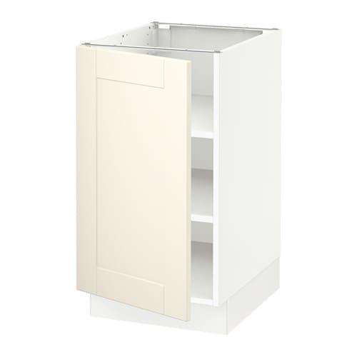 SEKTION Base cabinet with shelves - Grimslöv off-white ...