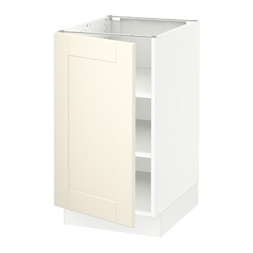 Sektion Base Cabinet With Shelves White Grimsl V Off White 18x24x30 Ikea