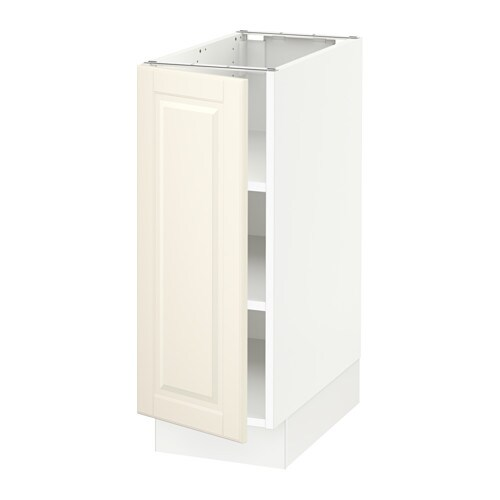 Ikea Kitchen Bodbyn Off White: SEKTION Base Cabinet With Shelves