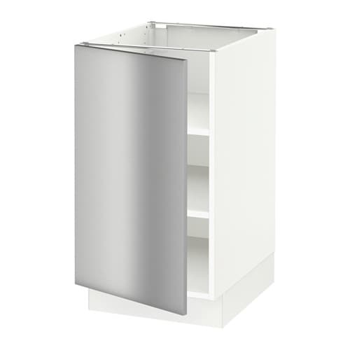 sektion base cabinet with shelves white grevsta. Black Bedroom Furniture Sets. Home Design Ideas