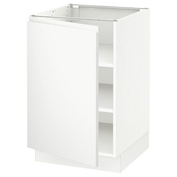 "SEKTION base cabinet with shelves white/Voxtorp matt white 21 "" 24 "" 24 7/8 "" 30 """