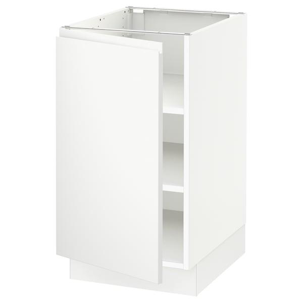 "SEKTION base cabinet with shelves white/Voxtorp matt white 18 "" 24 "" 24 7/8 "" 30 """