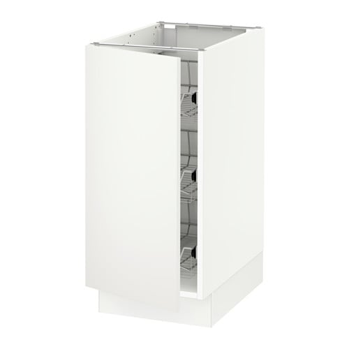 Kitchen Cabinets Heights: SEKTION Base Cabinet With Wire Baskets