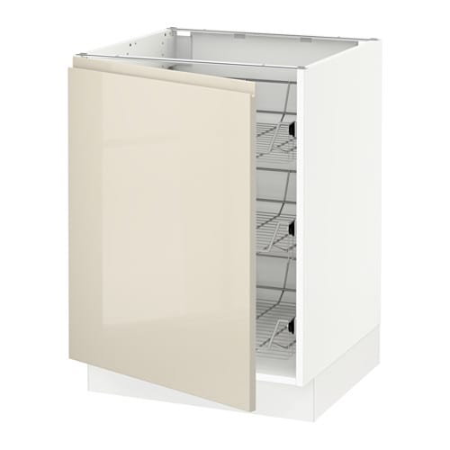 Ikea Kitchen Cabinets Price List: SEKTION Base Cabinet With Wire Baskets