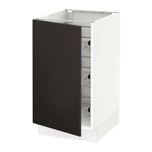"""SEKTION Base cabinet with wire baskets Kungsbacka anthracite, 18x24x30"""" IKEA"""
