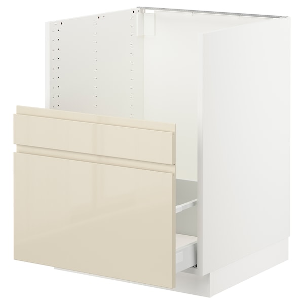 "SEKTION cabinet f/BREDSJÖN sink+2 fronts white Maximera/Voxtorp high-gloss light beige 24 "" 24 3/4 "" 34 1/2 "" 24 "" 30 """