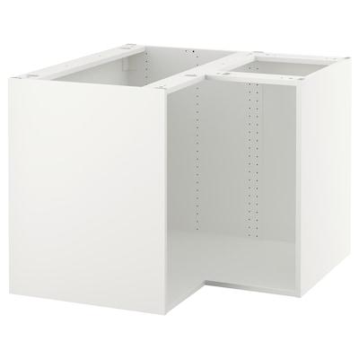 "SEKTION Base corner cabinet frame, white, 38x38x30 """
