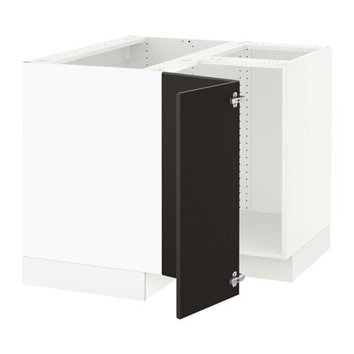 Sektion Corner Base Cabinet For Sink White Ringhult High Gloss Ikea