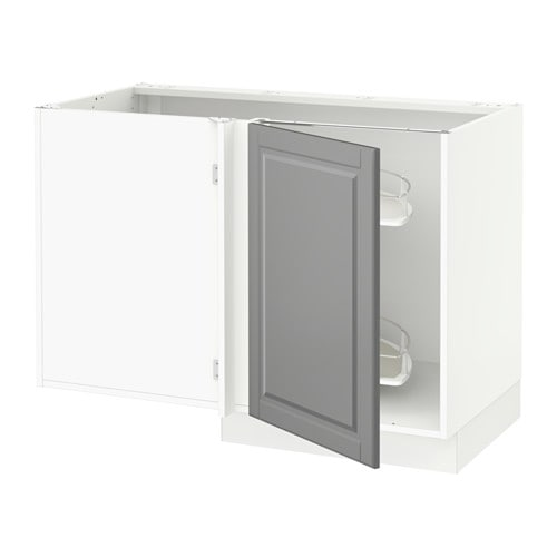 Sektion corner base cabinet po organizer white bodbyn for Ikea sektion kitchen cabinets
