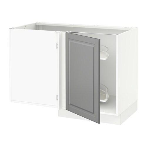 Sektion Corner Base Cabinet Po Organizer White Voxtorp Walnut Effect Ikea