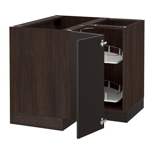 Sektion Corner Base Cabinet With Carousel Wood Effect