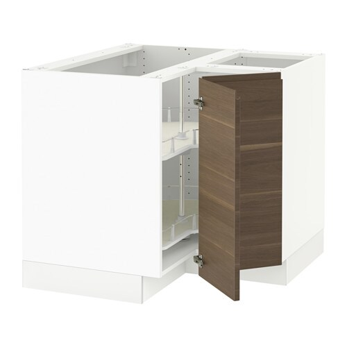 Sektion Corner Base Cabinet With Carousel Voxtorp Left