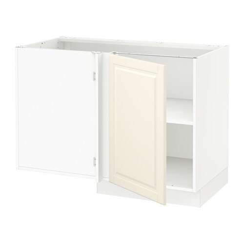 sektion corner base cabinet with shelf bodbyn off white ikea. Black Bedroom Furniture Sets. Home Design Ideas