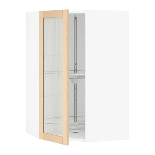 Ikea Corner Cabinet Glass Door ~ SEKTION Corner wall cab carousel glass door IKEA The door can be