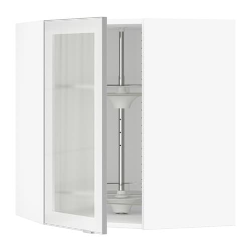 Ikea Patrull Kindersicherung ~ Corner wall cab carousel glass door  white, Jutis frosted glass