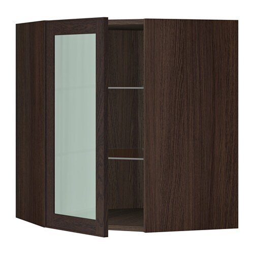 SEKTION Corner Wall Cabinet With Glass Door