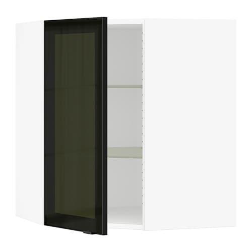 Sektion Corner Wall Cabinet With Glass Door Jutis Smoked Glass