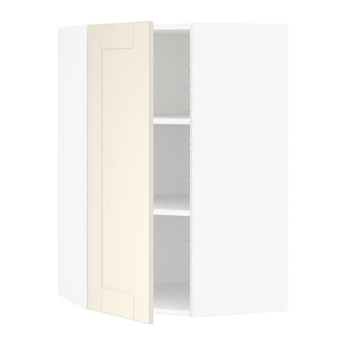 Charming SEKTION Corner Wall Cabinet With Shelves
